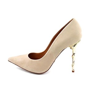 SCHUTZ Cream, Gold Pumps