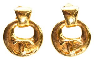 Chanel Gold Clip-On Drop Earrings