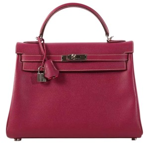 Hermès Hr.k1012.03 Pink Epsom Leather Rose Tyrien Satchel