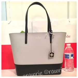 Kate Spade Zip Top Leather Tote Tote Leather Two-tone Shoulder Bag