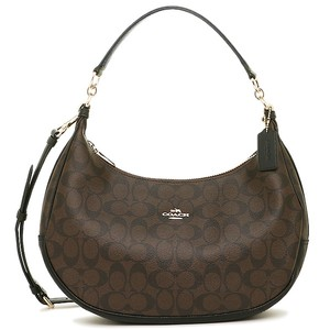 Coach Monogram Slouchy Strap Round Hobo Bag