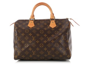 Louis Vuitton Lv.l0209.21 Canvas Leather Top Handle Brown Satchel