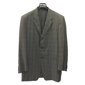 Canali CANALI MEN'S 3 BUTTON WOOL SUIT/ BLACK GREY #121-58