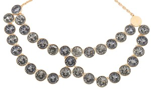 Louis Vuitton Blue Crystal Peter Pan Collar Necklace