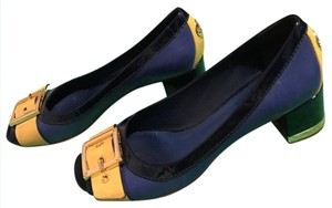 Tory Burch Royal blue, black, yellow Pumps