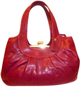 Coach Refurbished Leather Multi-compartment Lined Hobo Bag