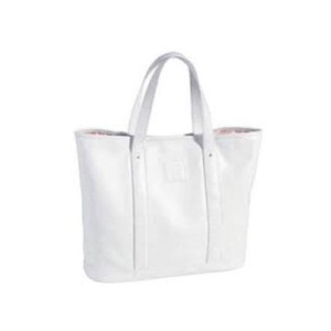 Longchamp Beach Summer Leather Tote in white