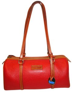 Dooney & Bourke Refurbished Leather Barrel Lined Shoulder Bag