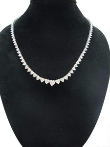 Other $135,000 24.99Ct Heart Shape Diamond Graduated Necklace
