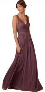 BHLDN Antique Orchid Tulle and Polyester Lining Fleur Feminine Bridesmaid/Mob Dress Size 10 (M)