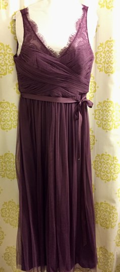 BHLDN Antique Orchid Tulle and Polyester Lining Fleur Feminine Bridesmaid/Mob Dress Size 10 (M) Image 2
