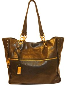 Badgley Mischka Refurbished Leather X-lg Lined Tote in Black