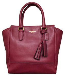 Coach Mini Tanner Leather Legacy Satchel in Deep Port