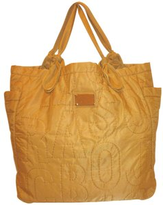 Marc Jacobs Refurbished Nylon X-lg Lined Tote in Spicy Mustard