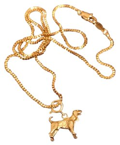 Other 14K Yellow Gold Dog Charm Necklace