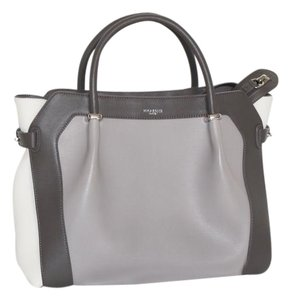 Nina Ricci Medium Satchel in Taupe, Gray, White