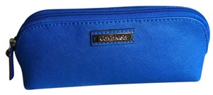 Calvin Klein Calvin Klein NWT Leather Cosmetic Bag H3JR12AZ Cornflower Blue