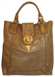 Juicy Couture Refurbished X-lg Leather Tote in Taupe