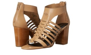 Coach Leandra Wedge Nude Semi Matte Calf Sandals