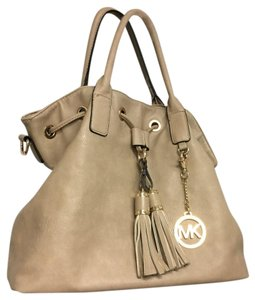 Michael Kors Designer Leather Gathered Top Tote