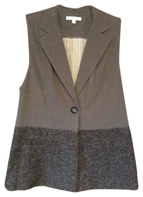 Item - Gray Black Speckled Vest Size 10 (M)