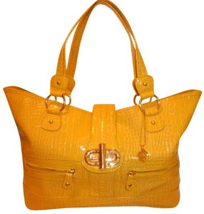 Big Buddha X-lg Lined Tote in Yellow