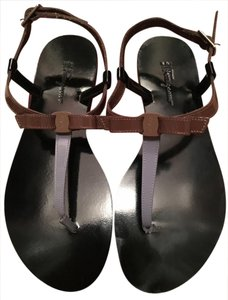 Salvatore Ferragamo Black /brown / purple Sandals
