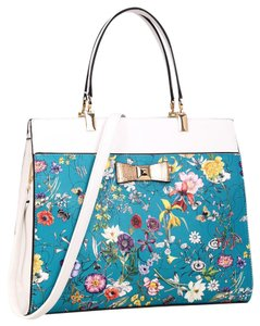 Anais Gvani Bags Hippie Boho The Treasured Hippie Large Handbags Affordable Satchel in Blue Flower