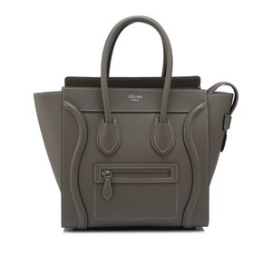 Céline Micro Micro Luggage Luggage Luggage Tote in Souris taupe grey Celine