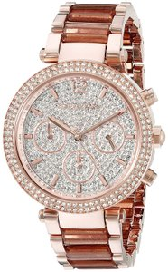 Michael Kors Michael Kors Women's Parker Rose Gold-Tone Bracelet Watch 39mm MK6285