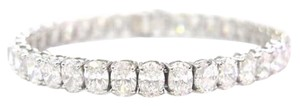 Other Fine 20.08CT Oval Cut Diamond Tennis Bracelet 18KT