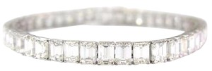 Other Fine 22.74CT Emerald Cut Diamond Tennis Bracelet 18KT