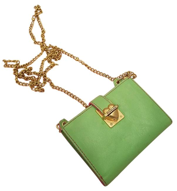 Item - None Light Green with Gold Chain Leather Cross Body Bag