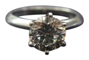 Tiffany & Co. Tiffany & Co PLAT Round Diamond Solitaire Engagement Ring 1.50Ct G-VVS
