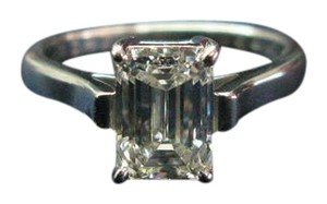 Tiffany & Co. Tiffany & Co Platinum Emerald Cut Diamond Engagement Ring 1.63Ct G-VVS