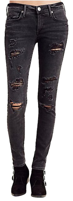 Item - Smoke Stack Destroyed Distressed Casey Super Womens Skinny Jeans Size 28 (4, S)