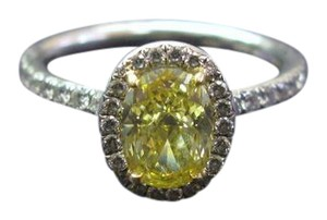 Tiffany & Co. Tiffany & Co PLAT FANCY INTENSE Yellow Diamond Soleste Engagement Ring