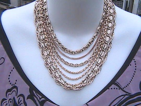 Other Very Gorgeous Rose Gold 7 Strand Choker Necklace