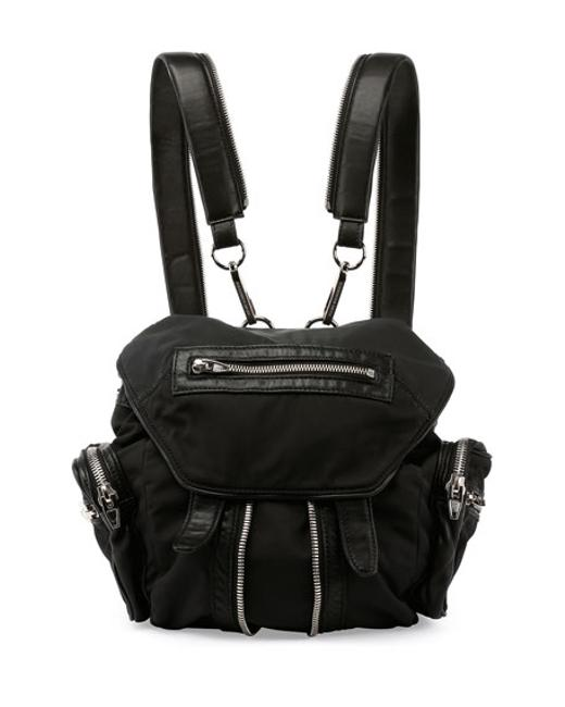 Item - Mini Marti In Black Leather and Nylon Backpack