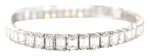 Other Fine 14.75CT Emerald Cut Diamond Tennis Bracelet 18KT