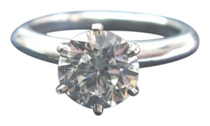 Tiffany & Co. Tiffany & Co Platinum Round Diamond Solitaire Ring 1.70Ct H-VS1