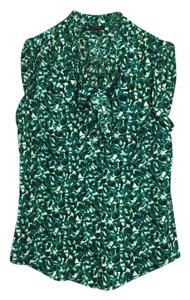 Ann Taylor Sleeveless Top Teal, Black, White
