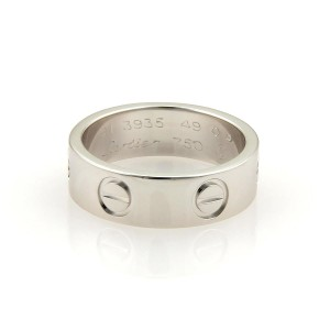 Cartier Cartier Love 18k White Gold 5.5mm Band Ring Size EU 49-US 4.75