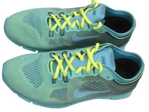Nike Air Running Ombre Free Custom Green and Yellow Athletic