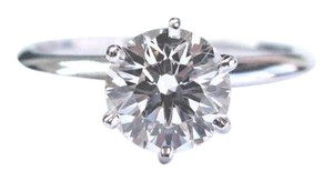 Tiffany & Co. Tiffany & Co Platinum Round Diamond Solitaire Ring 1.61Ct I-VS1 TRIPLE