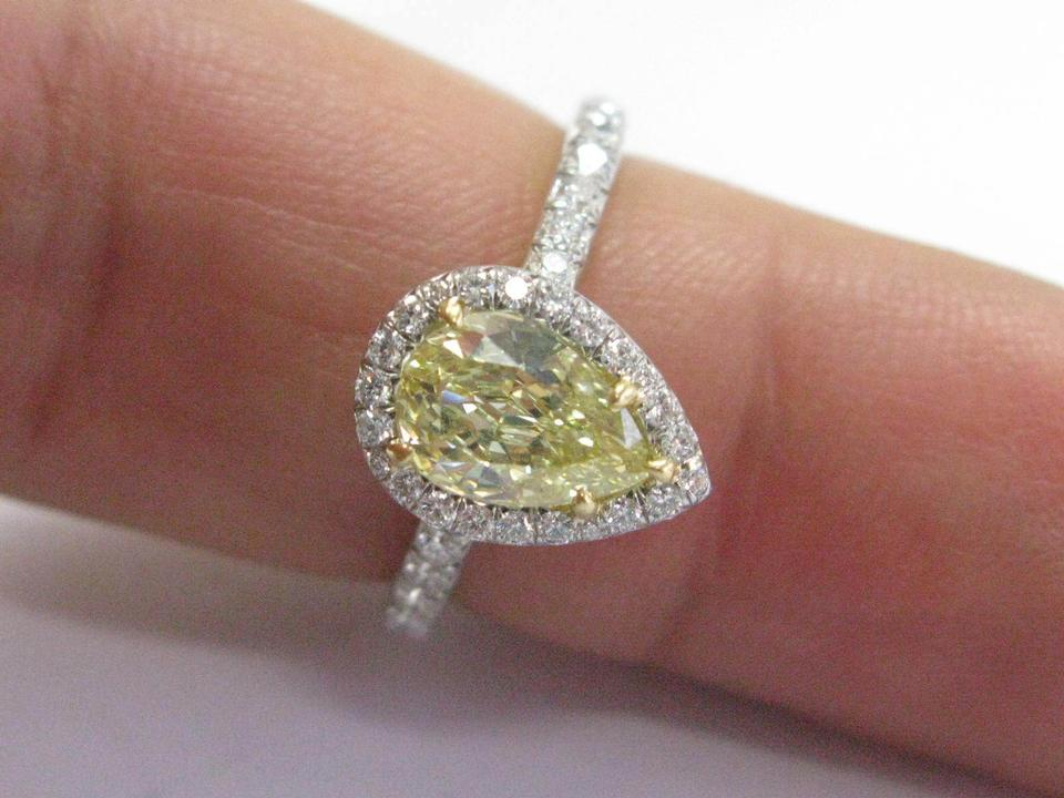 Tiffany co e f co plat pear shape fancy intense yellow diamond 123456789101112 mozeypictures Image collections