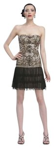 Sue Wong Drop Waist Gatsby Flapper Fringe Hem Dress