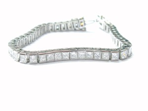 Other Platinum Princess Cut Diamond Tennis Bracelet Yellow Gold 11.56Ct