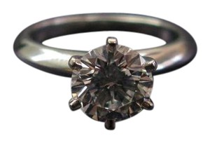 Tiffany & Co. Tiffany & Co PLAT Round Diamond Solitaire Engagement Ring 1.28CT D-VS1