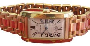 Cartier Cartier Large Tank Americaine 18k Yellow Gold Automatic Mens Bracelet